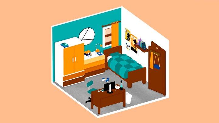 Clean Room For Summer 3D Model
