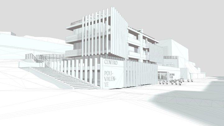 - centro polifunzionale 3D Model