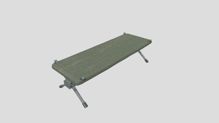 Camping bed (comfort not guaranteed) 3D Model