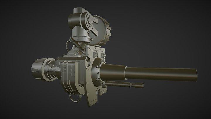 Unoficial Work, Rapid Fire Canon Uhi-rez 3D Model