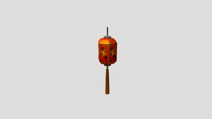 Chinese Low Poly Lantern 3D Model