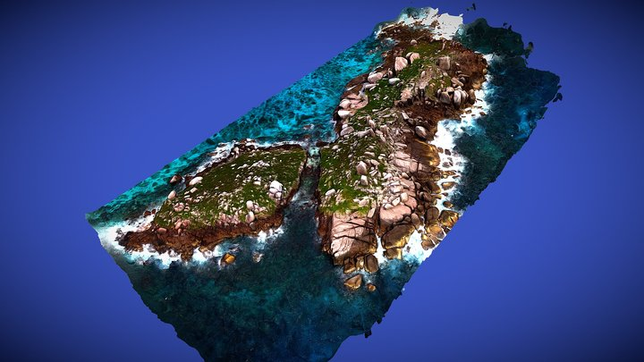 FIP Aerial Survey Little Fregate Islet 3D Model