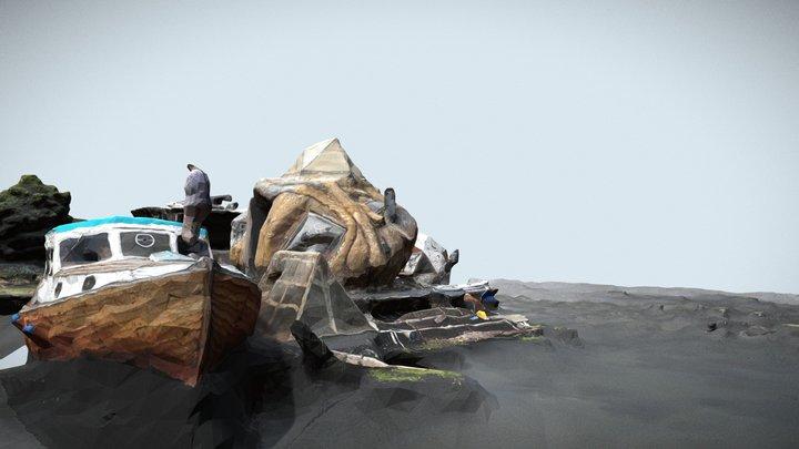 Floating City 3D Model