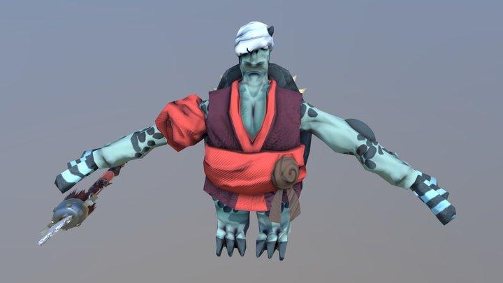 Kappa Warrior 3D Model