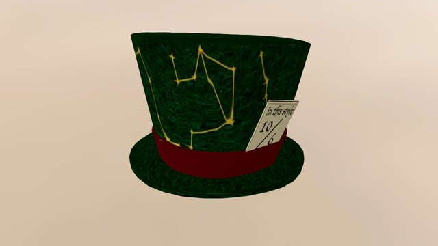 Wild Cards Mad Hat 3D Model