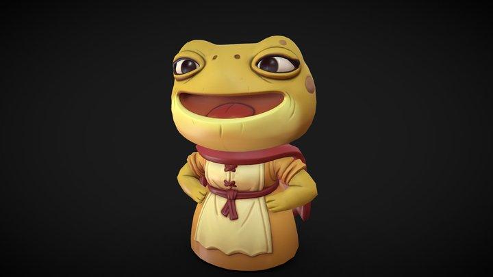 Frog Lady 3D Model