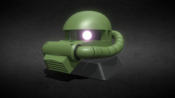 Zaku II Head Bust 3D Model
