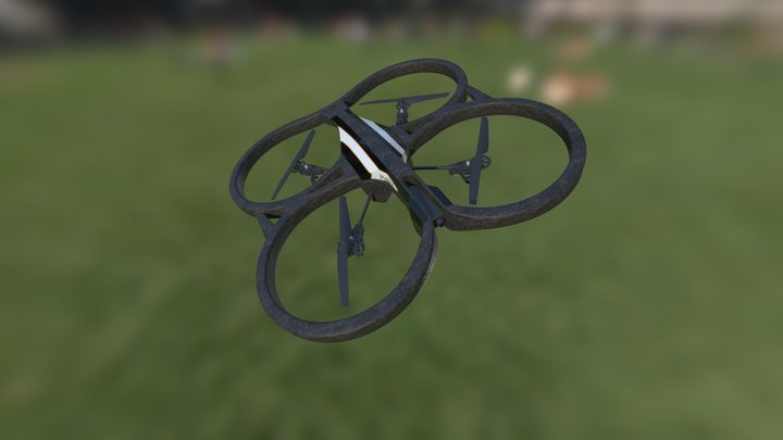 Parrot AR-Drone 2.0 3D Model