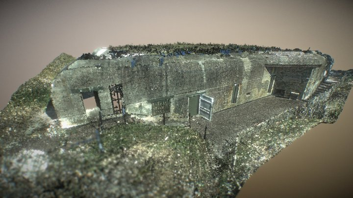 "Command Bunker ""Bertha"" G52 type L487 3D Model"