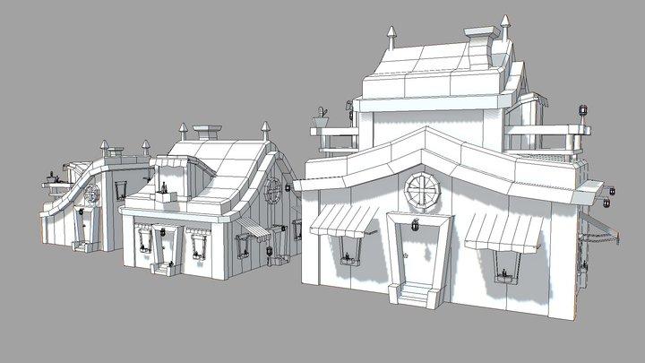Modular houses. 3D Model