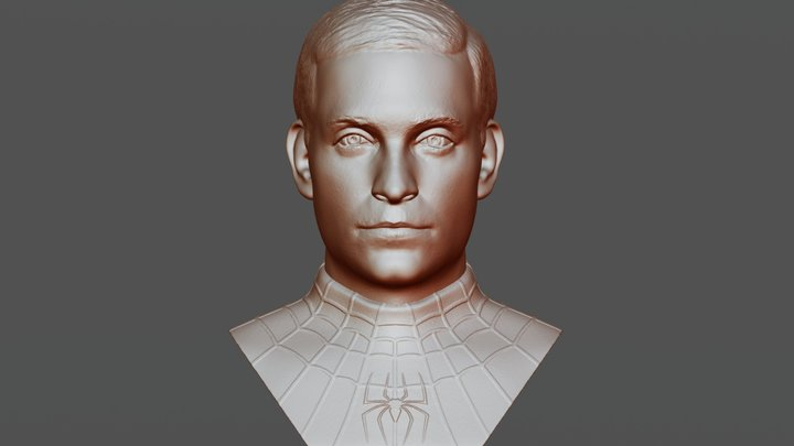 Spider-Man Maguire bust for 3D printing 3D Model