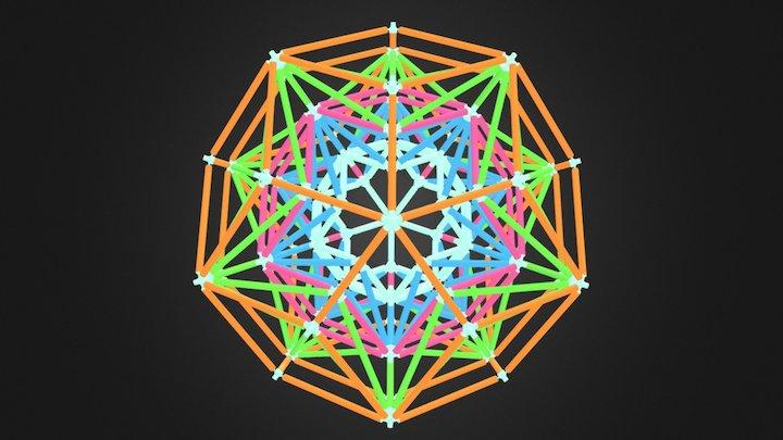 "Rhombic Triacontahedron 5 Level ""Fractal"" Star 3D Model"