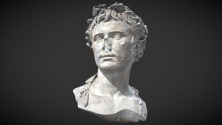Buste d'Auguste couronné de chêne 3D Model