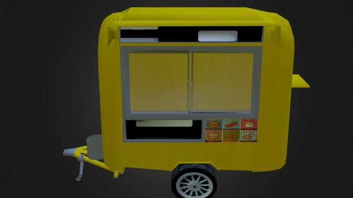 Burger Stall 3D Model
