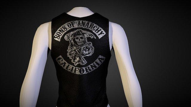 Female Biker Vest 3D Model