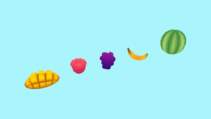 Fruits 🥭🍇🍌🍉 3D Model