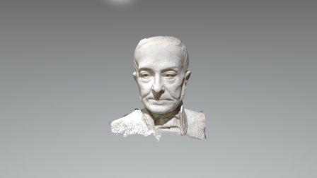 Busto Giuseppe Manno 3D Model