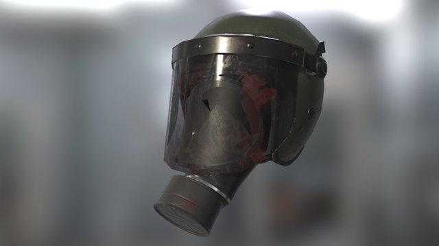 PBR Riot Helmet & Gasmask 3D Model