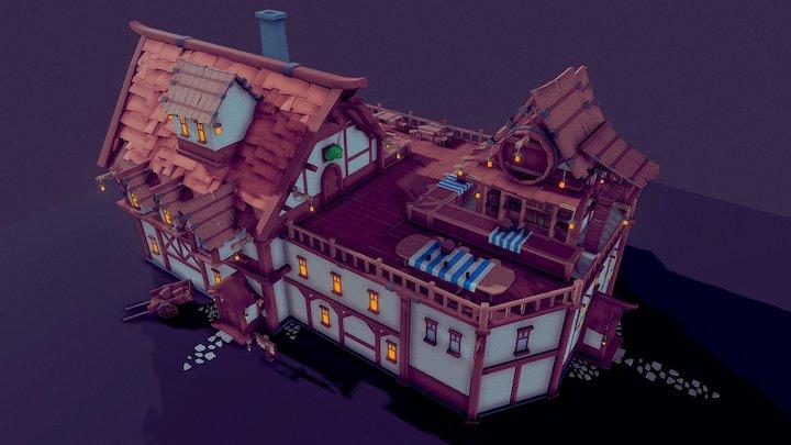 """""""The Drunk Troll"""" Tavern 3D Model"""