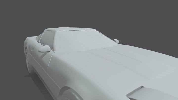 WIP HighPoly Chevrolet C4 zr1 Corvette 3D Model