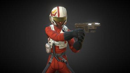 Resistance Pilot - Star Wars : Galaxy of Heroes 3D Model