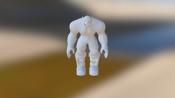 Orcbasemeshnoarmor 3D Model