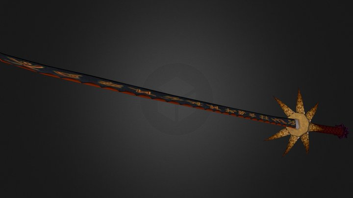 Black Sun Blade 3D Model
