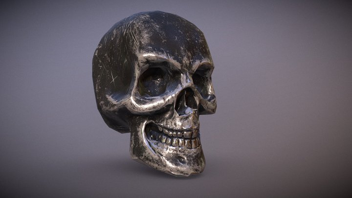 Metal Skull 3D Model