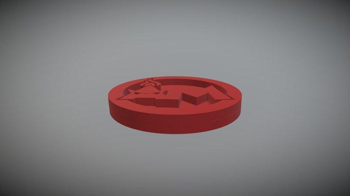AM Logo Medallion 3D Model