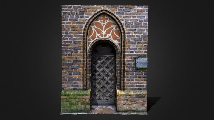 A side door to St.James' Church in Toruń,Poland 3D Model