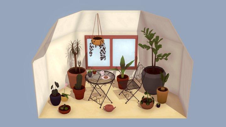 Romantic Tea Time 3D Model
