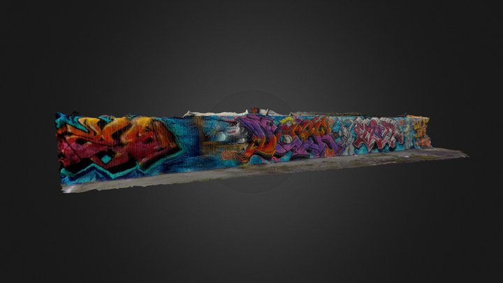 Wall of Graffiti (video to mesh) 1 3D Model