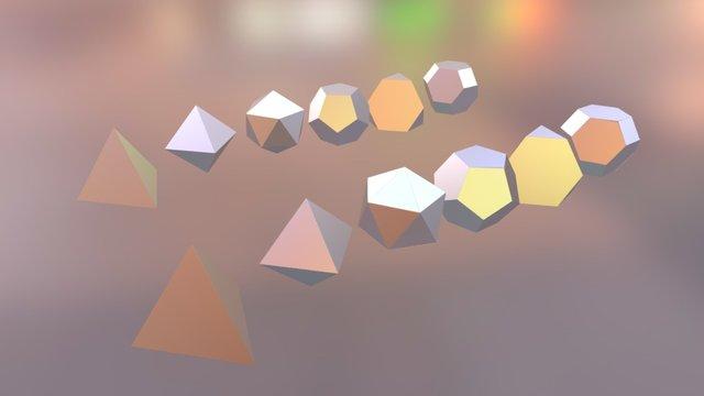 Platonic Solids 3D Model