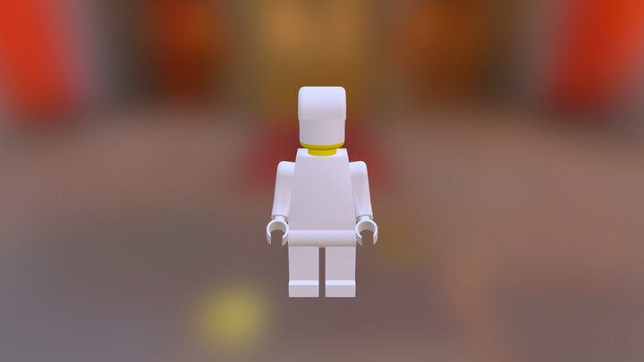 Lego Man With Hat 3D Model