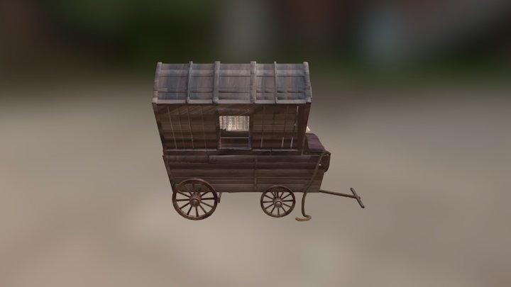 WagonTextured 3D Model