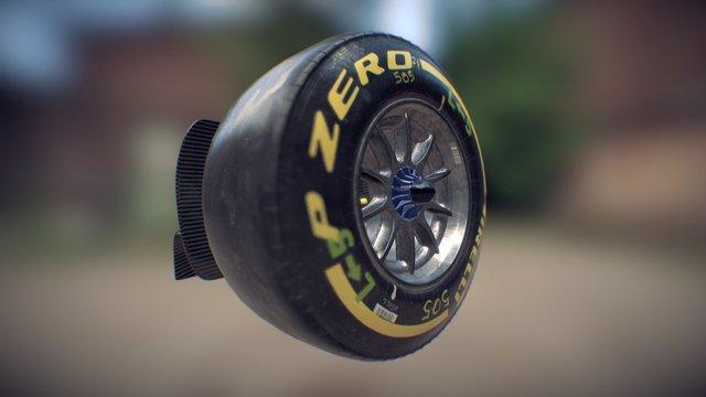 F14T - Wheel - PBR 3D Model