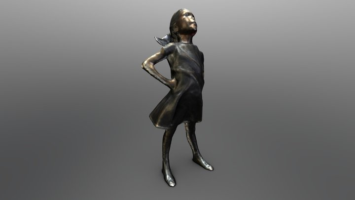 Fearless Girl - 3d Scan by ContinuumVR 3D Model