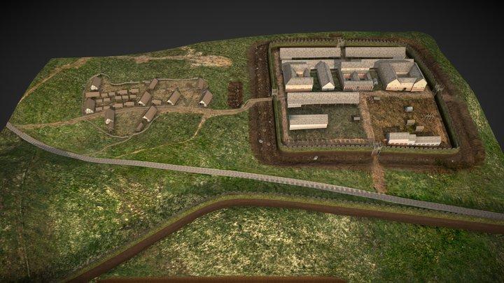 Bar Hill Fort Reconstruction, Antonine Wall 3D Model