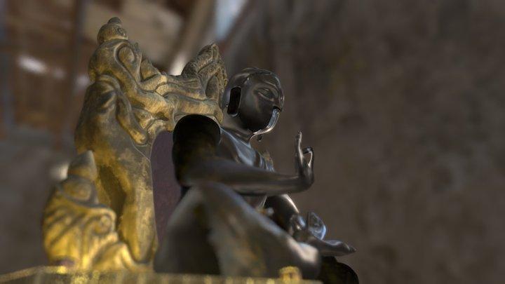 Buddha Scene 3D Model