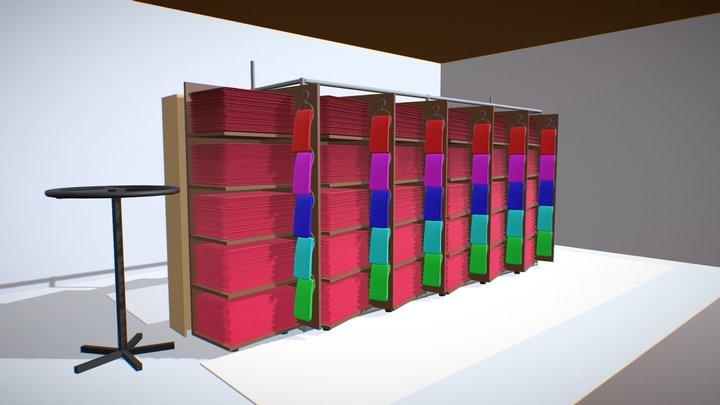 Shop Blockout 3D Model