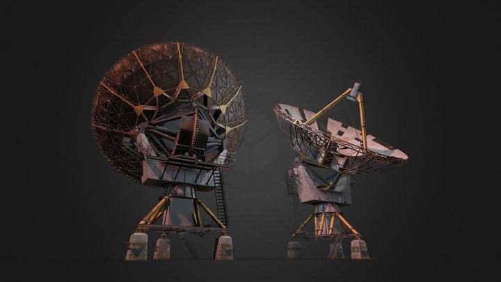 Locator, Satellite dish 3D Model