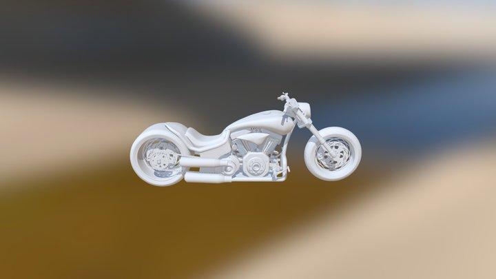 chopper motorbike - personal concept 3D Model