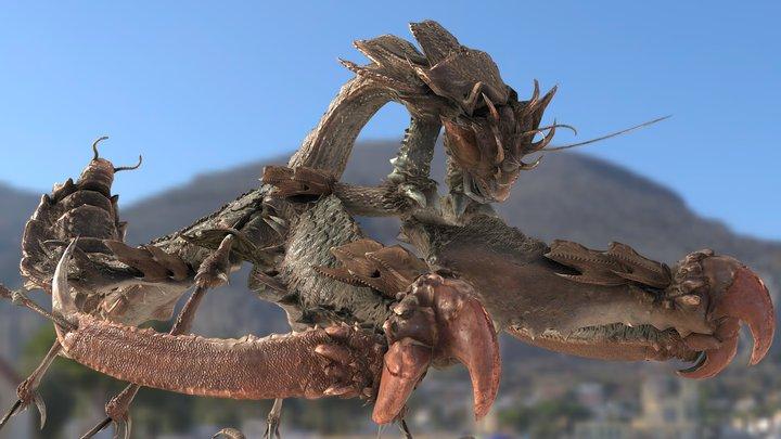 Dragon Mantis in Monster Hunter 3D Model