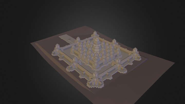 Angkor_Wat.3ds 3D Model