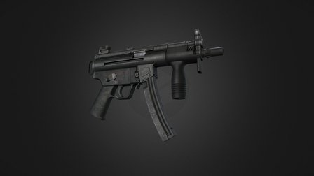 MP5K Submachine Gun 3D Model