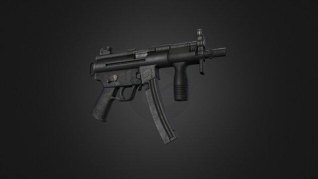 MP5K Submachine Gun 3D Model