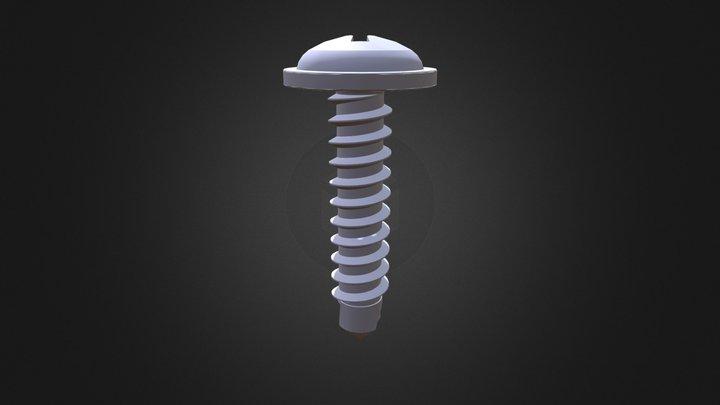VIS AUTOPERCEUSE TÊTE CYLINDRIQUE BOMBÉE 3D Model