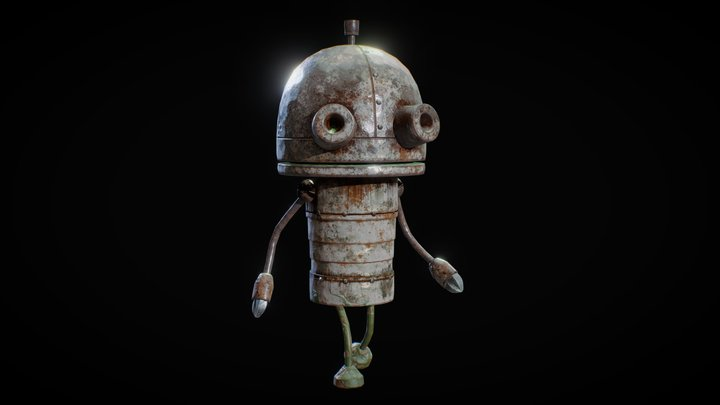 Josef Robot (Machinarium Game) 3D Model