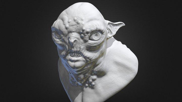 Goblin Bust 3D Model