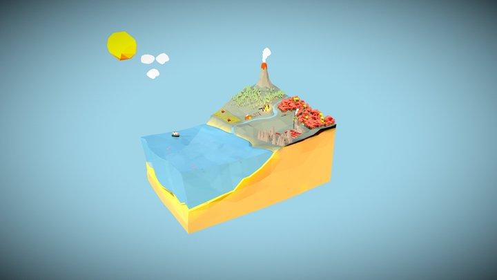 De koolstofcyclus 3D Model